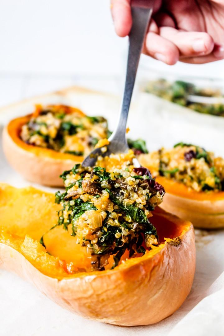 Mushroom & Kale StuffedSquash