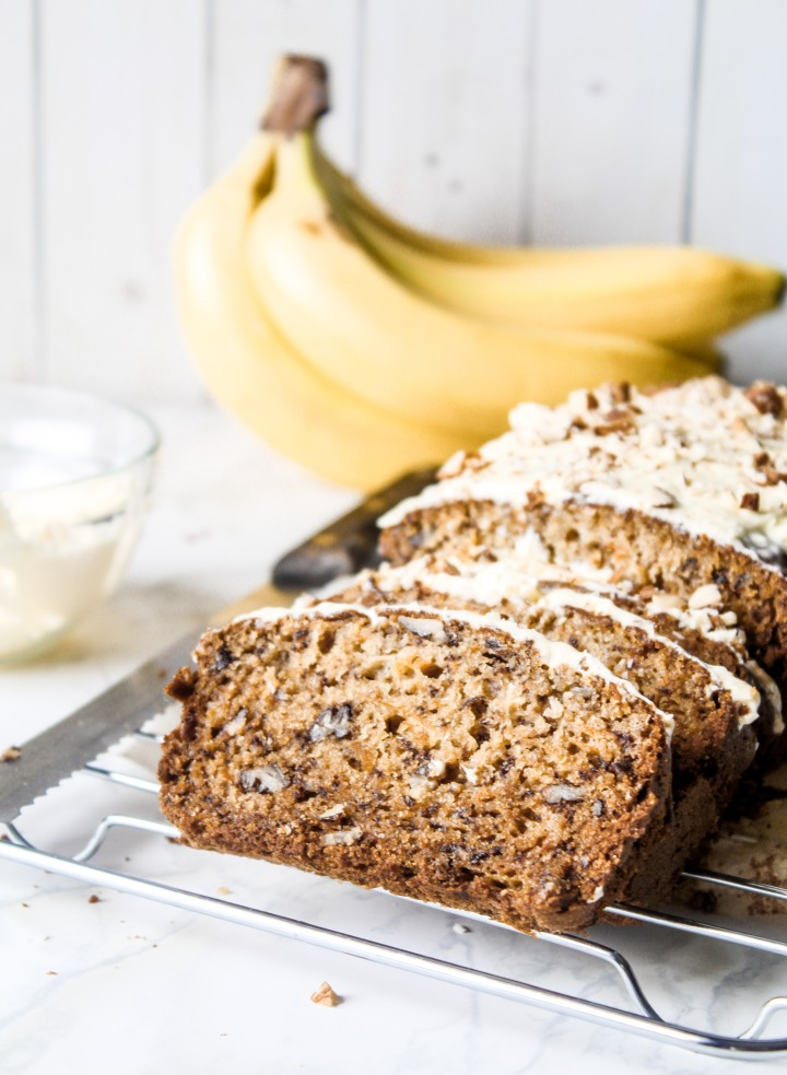 One Bowl Banana Carrot Loaf Cake