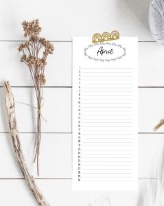 Singel Calendar Page