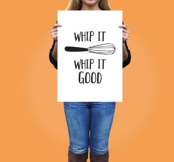Whip It Good, Kitchen Poster